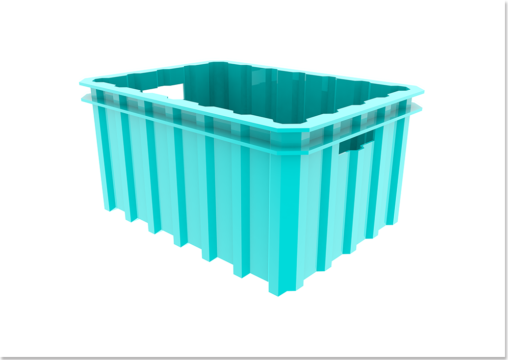 Liix Crate Container Cyan