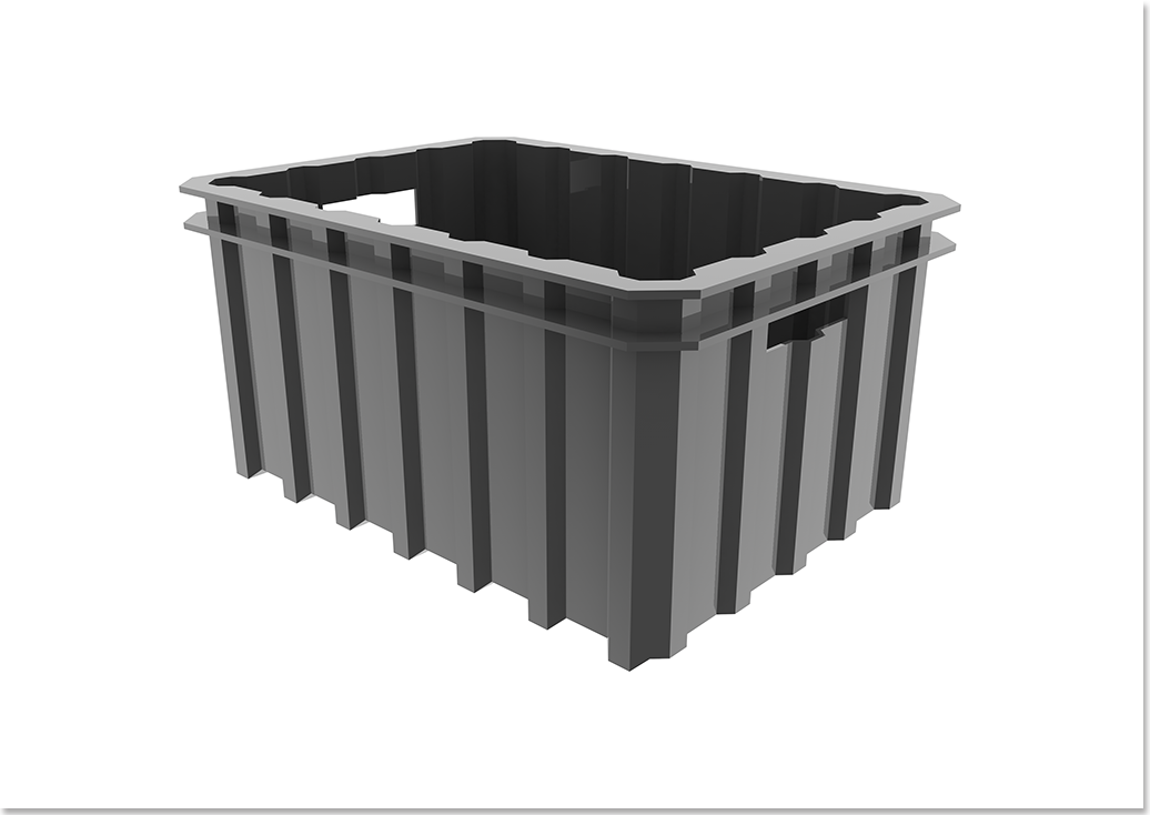 Liix Crate Container Gray