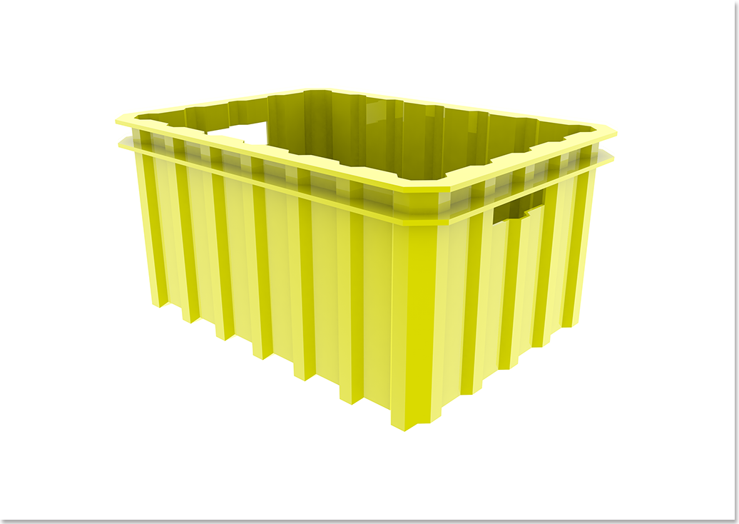 Liix Crate Container Yellow