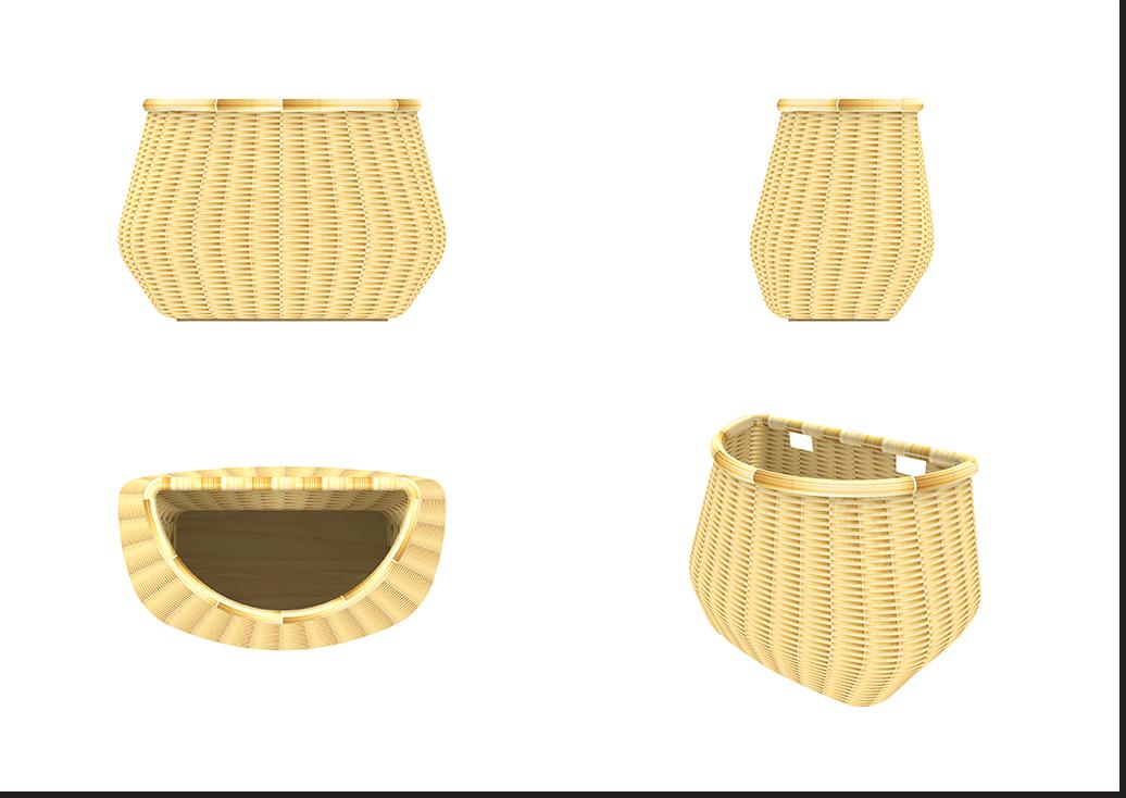 Liix Wicker Basket Type A Comp